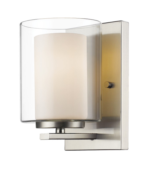 Z-Lite Willow Collection 1 Light Wall Sconce in Brushed Nickel Finish, 426-1S-BN