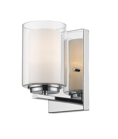 Z-Lite Willow Collection 1 Light Wall Sconce in Chrome Finish, 426-1S-CH