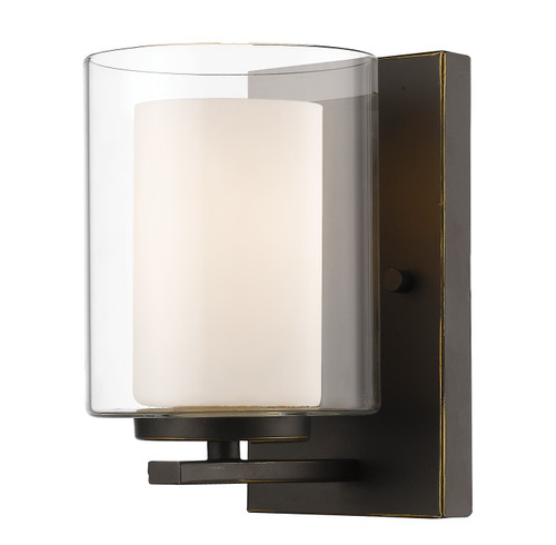 Z-Lite Willow Collection 1 Light Wall Sconce in Olde Bronze Finish, 426-1S-OB