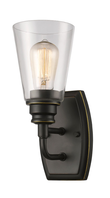 Z-Lite Annora Collection 1 Light Wall Sconce in Olde Bronze Finish, 428-1S-OB