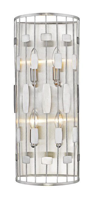 Z-Lite Almet Collection 4 Light Wall Sconce in Brushed Nickel Finish, 430-4S-BN