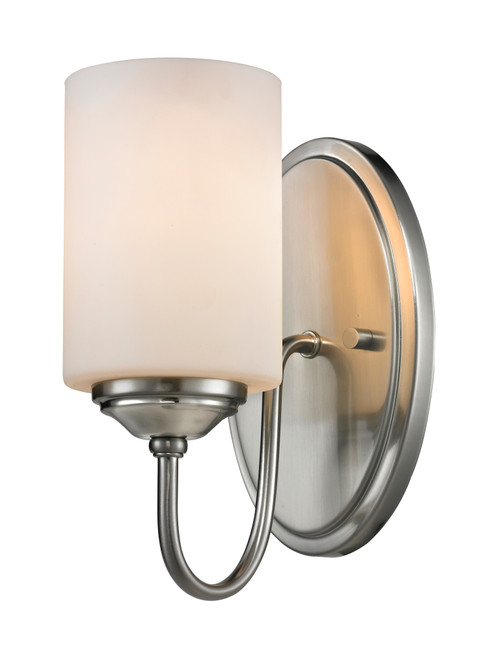 Z-Lite Cardinal Collection 1 Light Wall Sconce in Brushed Nickel Finish, 434-1S-BN