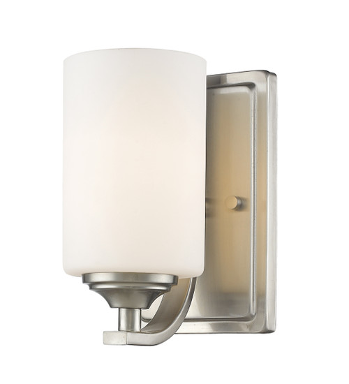 Z-Lite Bordeaux Collection 1 Light Wall Sconce in Brushed Nickel Finish, 435-1S-BN