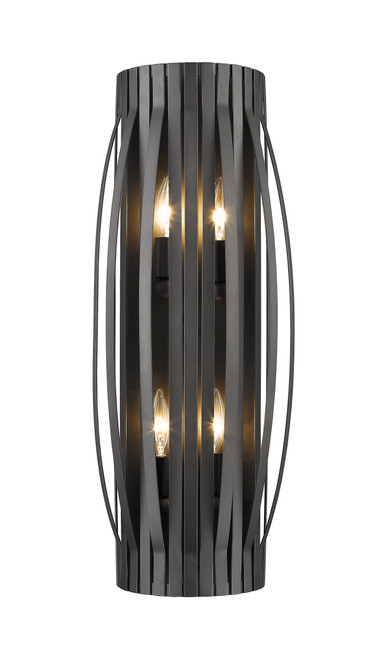Z-Lite Moundou Collection 4 Light Wall Sconce in Bronze Finish, 436-4S-BRZ