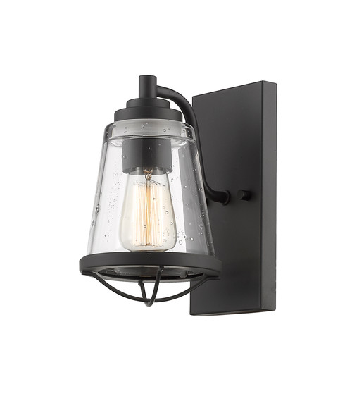 Z-Lite Mariner Collection 1 Light Wall Sconce in Bronze Finish, 444-1S-BRZ