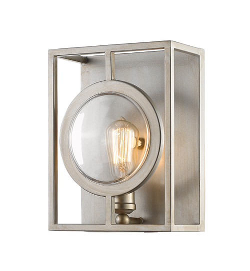 Z-Lite Port Collection 1 Light Wall Sconce in Antique Silver Finish, 448-1S-B-AS