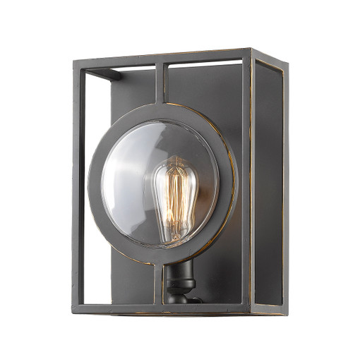 Z-Lite Port Collection 1 Light Wall Sconce in Olde Bronze Finish, 448-1S-B-OB