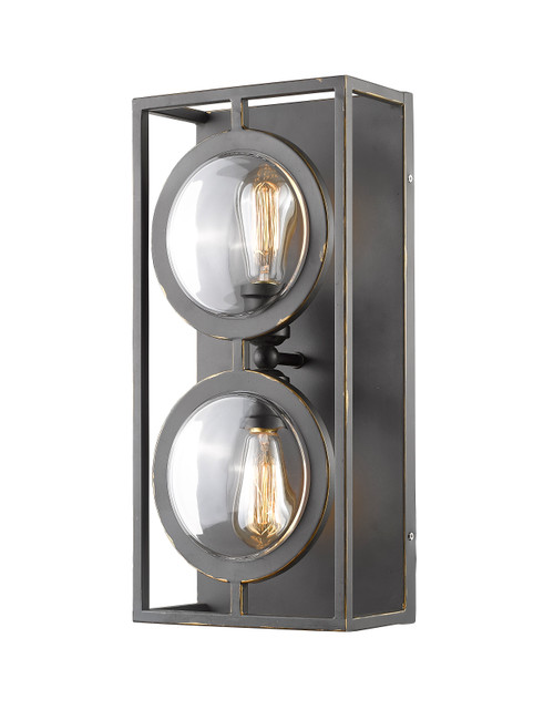 Z-Lite Port Collection 2 Light Wall Sconce in Olde Bronze Finish, 448-2S-OB