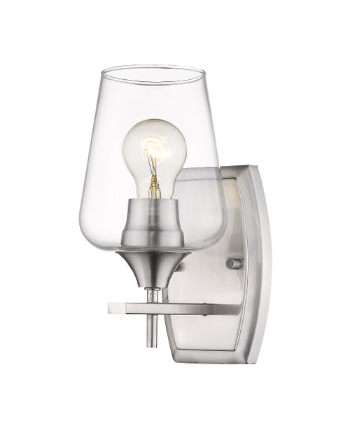 Z-Lite Joliet Collection 1 Light Wall Sconce in Brushed Nickel Finish, 473-1S-BN
