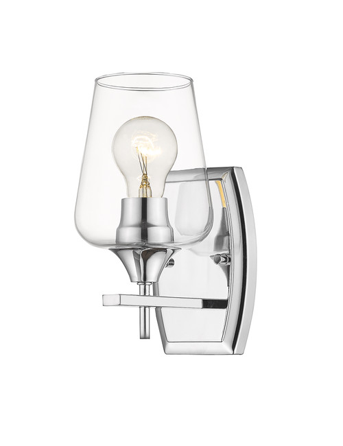 Z-Lite Joliet Collection 1 Light Wall Sconce in Chrome Finish, 473-1S-CH