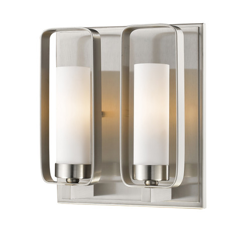 Z-Lite Aideen Collection 1 Light Wall Sconce in Brushed Nickel Finish, 6000-2S-BN