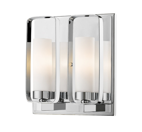 Z-Lite Aideen Collection 2 Light Wall Sconce in Chrome Finish, 6000-2S-CH