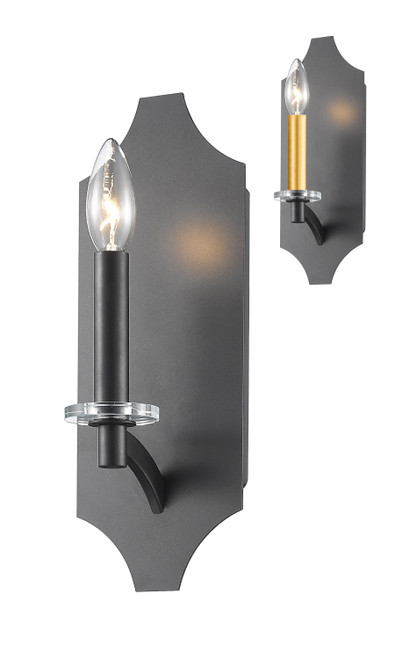 Z-Lite Zander Collection 1 Light Wall Sconce in Bronze Finish, 6008-1S-BRZ