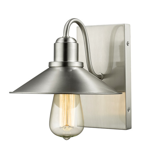Z-Lite Casa Collection 1 Light Wall Sconce in Brushed Nickel Finish, 613-1S-BN