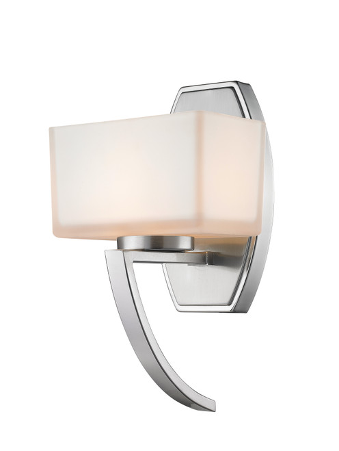Z-Lite Cardine Collection 1 Light Wall Sconce in Brushed Nickel Finish, 614-1SBN