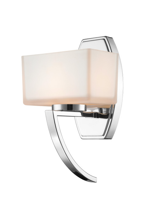 Z-Lite Cardine Collection 1 Light Wall Sconce in Chrome Finish, 614-1SCH