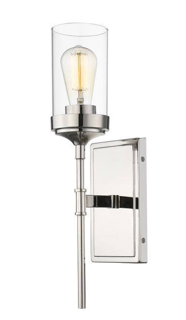 Z-Lite Calliope Collection 1 Light Wall Sconce in Polished Nickel Finish, 617-1S-PN