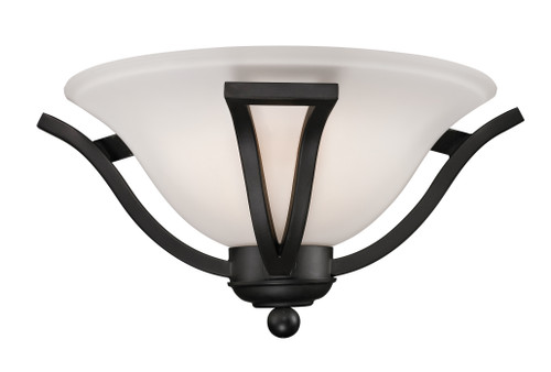 Z-Lite Lagoon Collection 1 Light Wall Sconce in Matte Black Finish, 703-1S-MB
