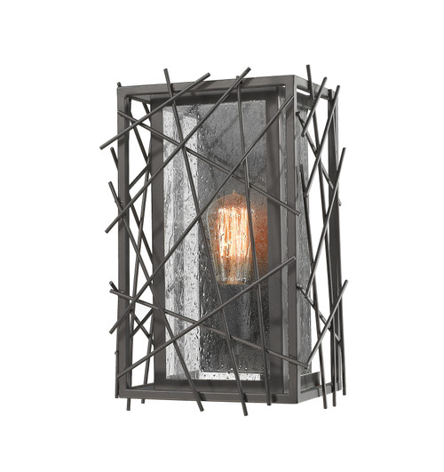 Z-Lite Stanwood Collection 1 Light Wall Sconce in Bronze Finish, 8000-1S-BRZ