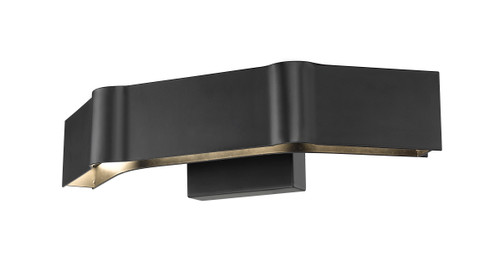 Z-Lite Arcano Collection 3 Light Wall Sconce in Matte Black Finish, 8002-3SMB-LED