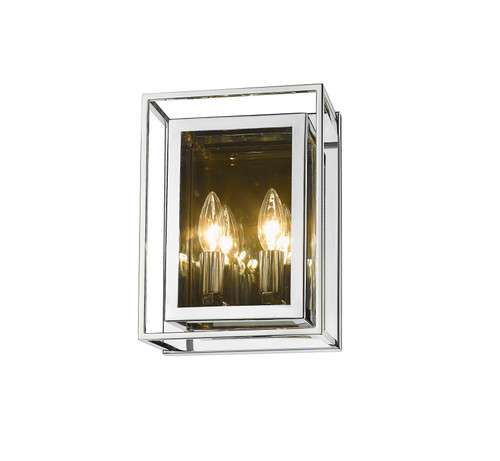 Z-Lite Infinity Collection 2 Light Wall Sconce in Chrome Finish, 802-2S-CH