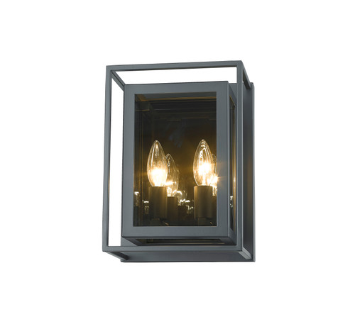 Z-Lite Infinity Collection 2 Light Wall Sconce in Misty Charcoal Finish, 802-2S-MC