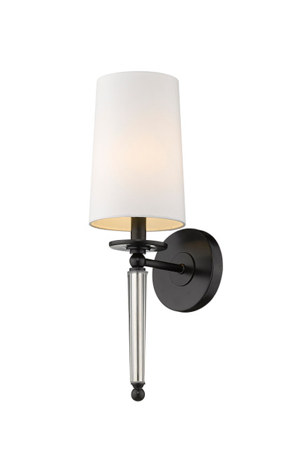 Z-Lite Avery Collection 1 Light Wall Sconce in Matte Black Finish, 810-1S-MB
