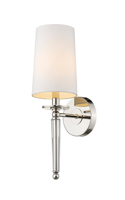 Z-Lite Avery Collection 1 Light Wall Sconce in Polished Nickel Finish, 810-1S-PN