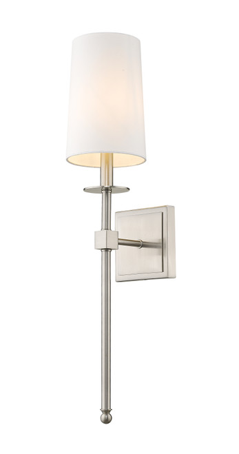 Z-Lite Camila Collection 1 Light Wall Sconce in Brushed Nickel Finish, 811-1S-BN