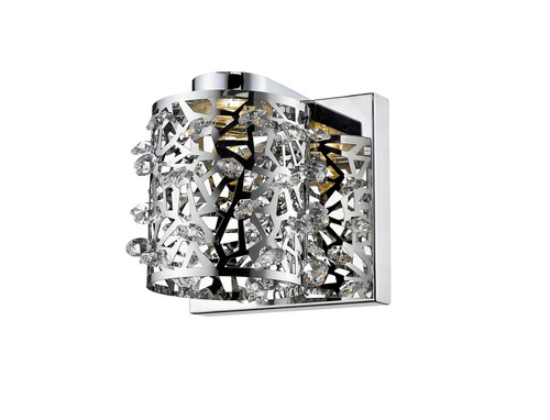Z-Lite Fortuna Collection 1 Light Wall Sconce in Chrome Finish, 906-1S-LED