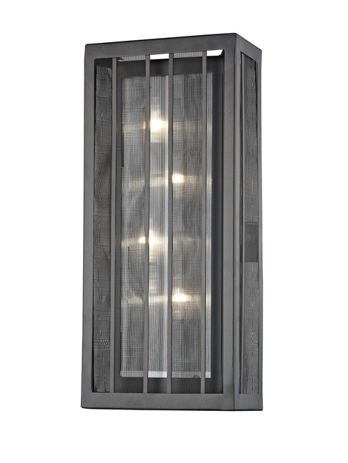 Z-Lite Meridional Collection 4 Light Wall Sconce in Bronze Finish