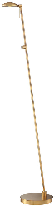 George Kovacs George's Reading Room 1 Light Led Pharmacy Floor Lamp In Honey Gold