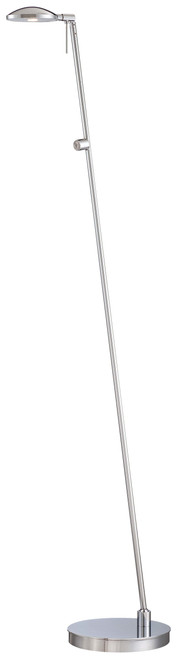 George Kovacs George's Reading Room 1 Light Led Pharmacy Floor Lamp In Chrome