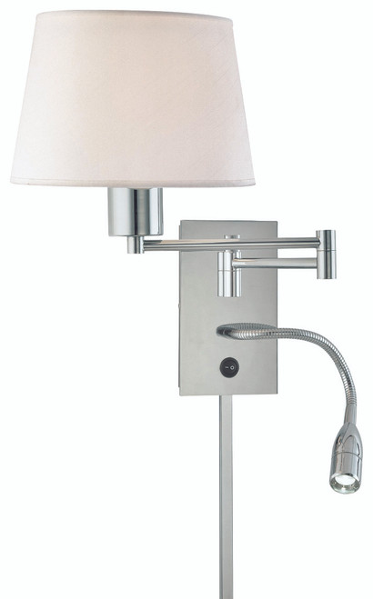George Kovacs George's Reading Room 1 Light Led Swing Arm Wall Lamp In Chrome