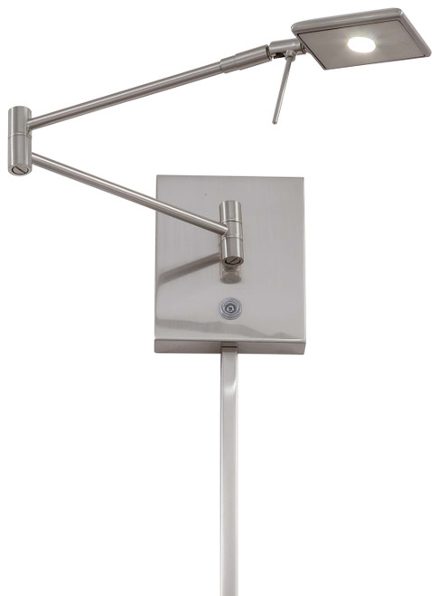 George Kovacs George's Reading Room 1 Light Led Pharmacy Wall Lamp In Brushed Nickel