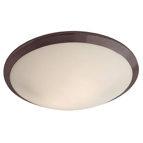 DVI Lighting 2 Light Essex Flush Mount in Oil Rubbed Bronze with Half Opal Glass