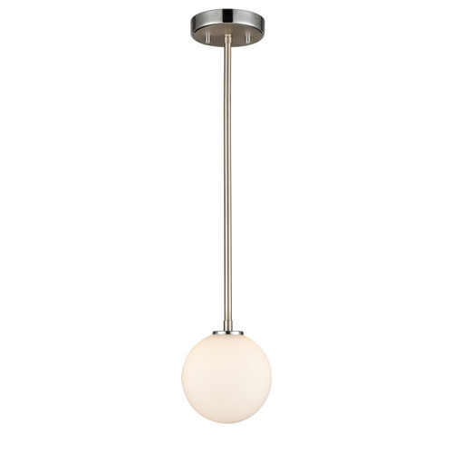 DVI Lighting Alouette Mini-Pendant in Chrome and Buffed Nickel with Half Opal Glass