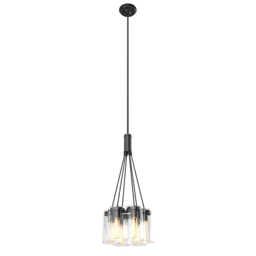 DVI Lighting Erin 6 Light Pendant in Graphite with Clear Glass