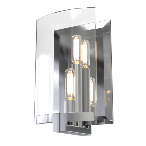 DVI Lighting 2 Light Pickford Sconce in Chrome with Clear Glass