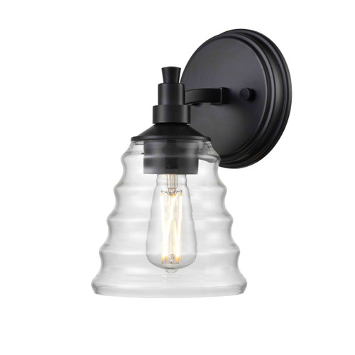 DVI Lighting Campbellville Sconce in Ebony with Beehive Glass