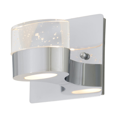 DVI Lighting 1 Light Neptune Sconce in Chrome with Clear Seedy Glass