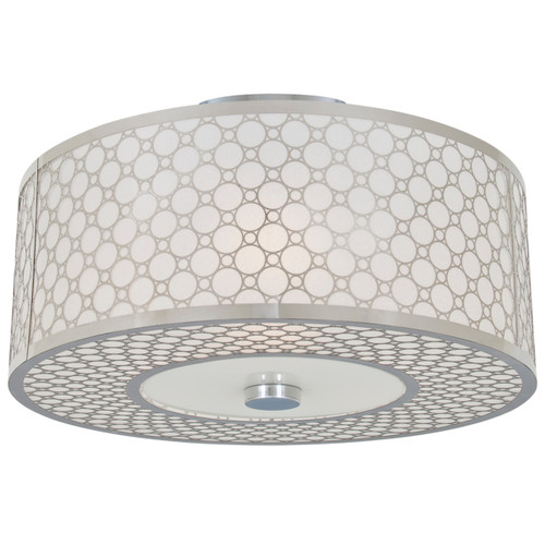 DVI Lighting 2 Light Trilogy Semi-Flush Mount in Chrome with Stardust Shade