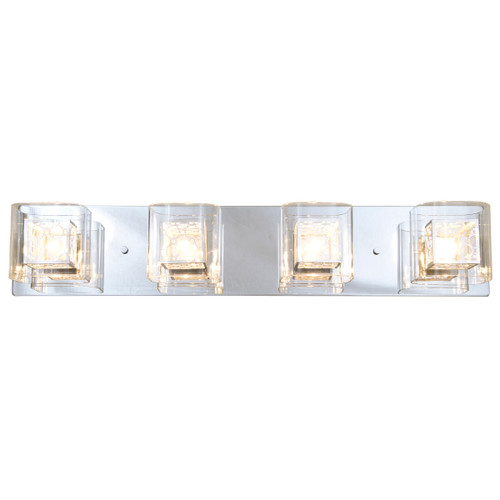 DVI Lighting 4 Light Trilogy Vanity in Chrome
