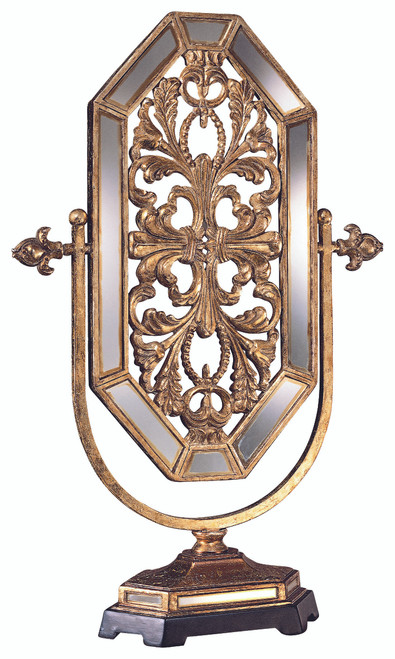 Minka Lavery Mirror in Tuscan Gold With Mirror Accent Finish