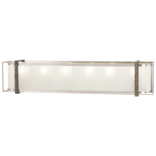 Minka Lavery Tyson'S Gate 6 Light Bath in Brushed Nickel With Shale Wood Finish