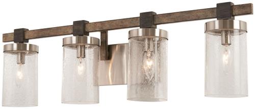 Minka Lavery Bridlewood 4 Light Bath in Stone Grey With Brushed Nickel Finish