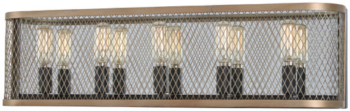 Minka Lavery Marsden Commons 5 Light Bath in Smoked Iron With Aged Gold Finish