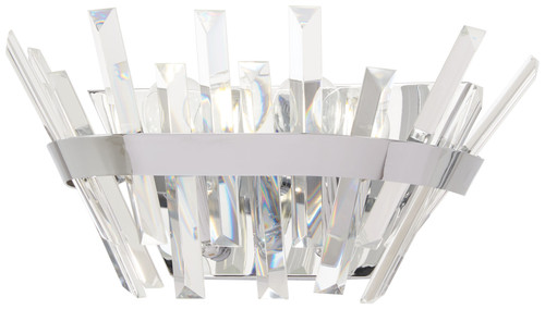 Minka Lavery Echo Radiance 2 Light Wall Sconce in Chrome Finish
