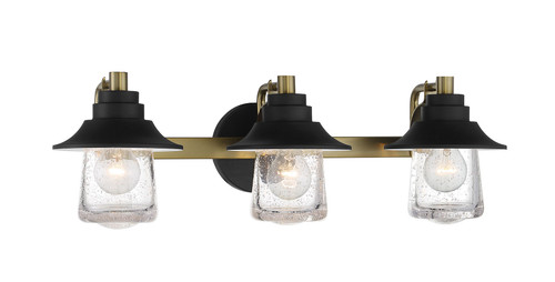 Minka Lavery 3 Light Bath in Sand Coal With Soft Brass Finish