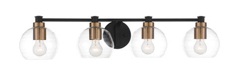 Minka Lavery 4Light Bath in Sand Coal With Natural Brushed Brass Finish